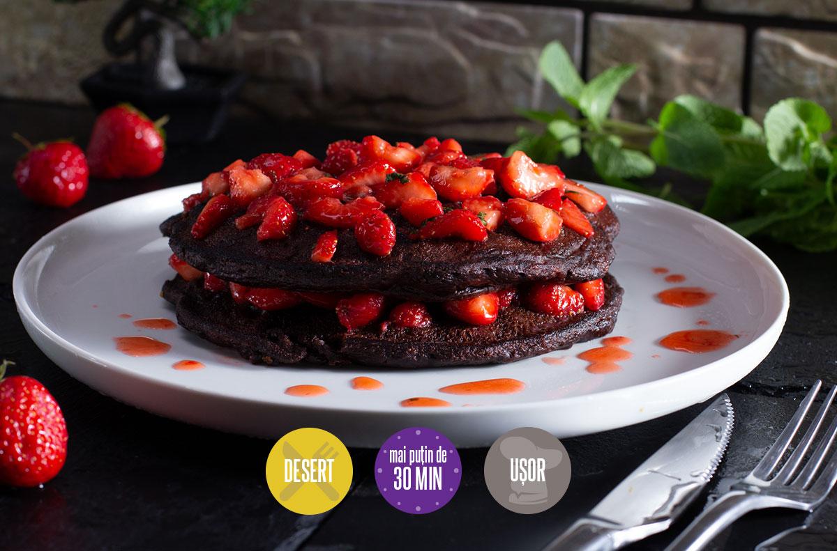 pancakes cu ciocolată
