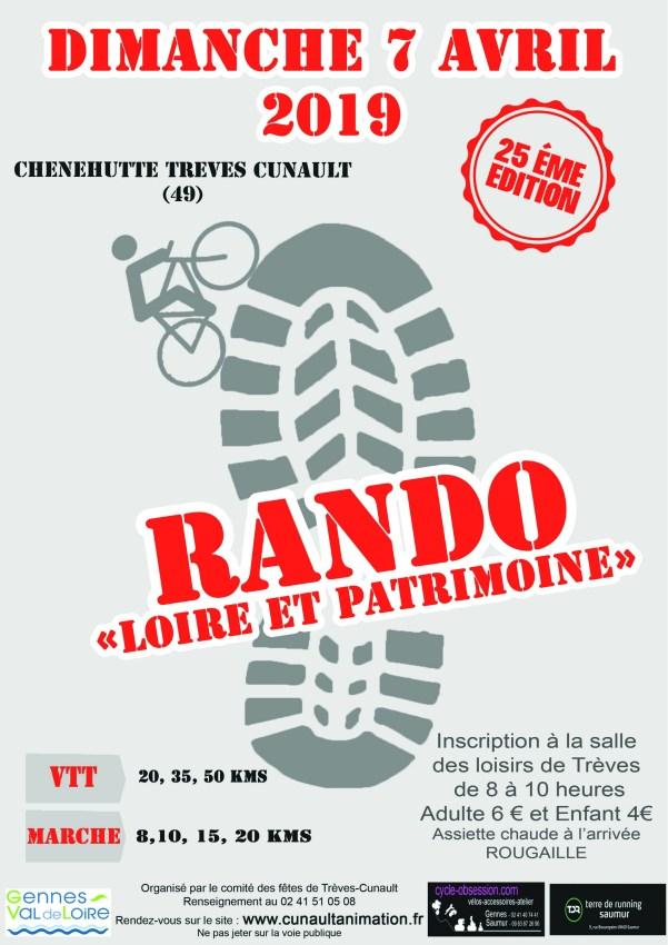 25ème Rando Loire et Patrimoine 2019