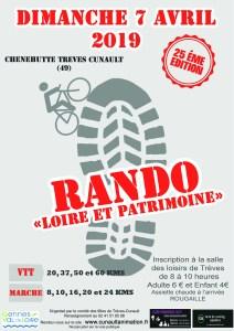 26ème Rando Loire et Patrimoine @ Salle des Loisirs de Trèves | Chênehutte-Trèves-Cunault | Pays de la Loire | France