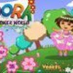 Dora hái hoa
