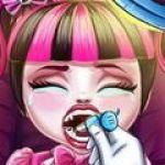Bác sĩ chữa răng cho em bé