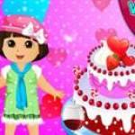 Dora làm bánh tình yêu