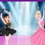 Elsa và Anna múa ballet