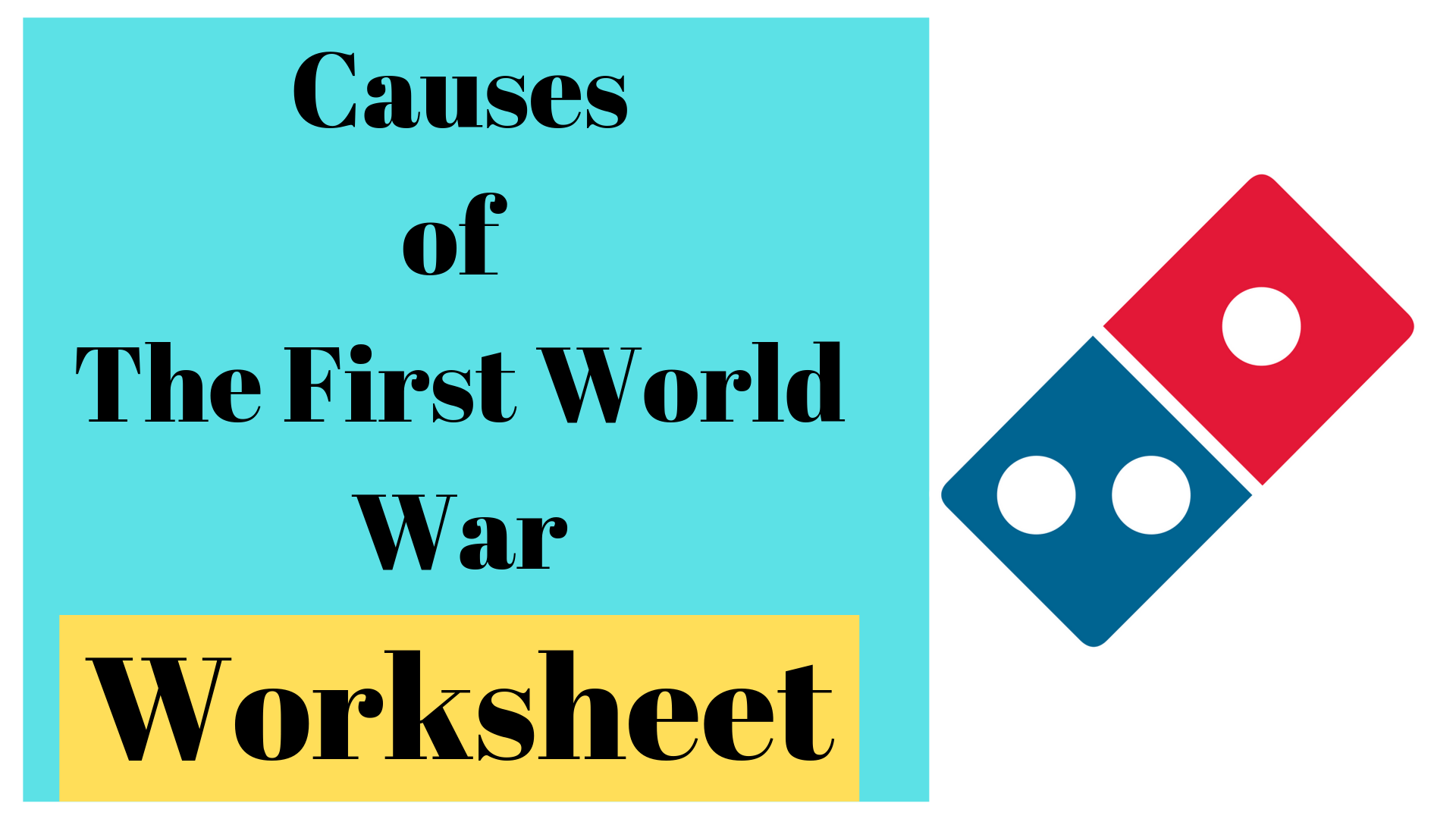 Causes Of The First World War Worksheet