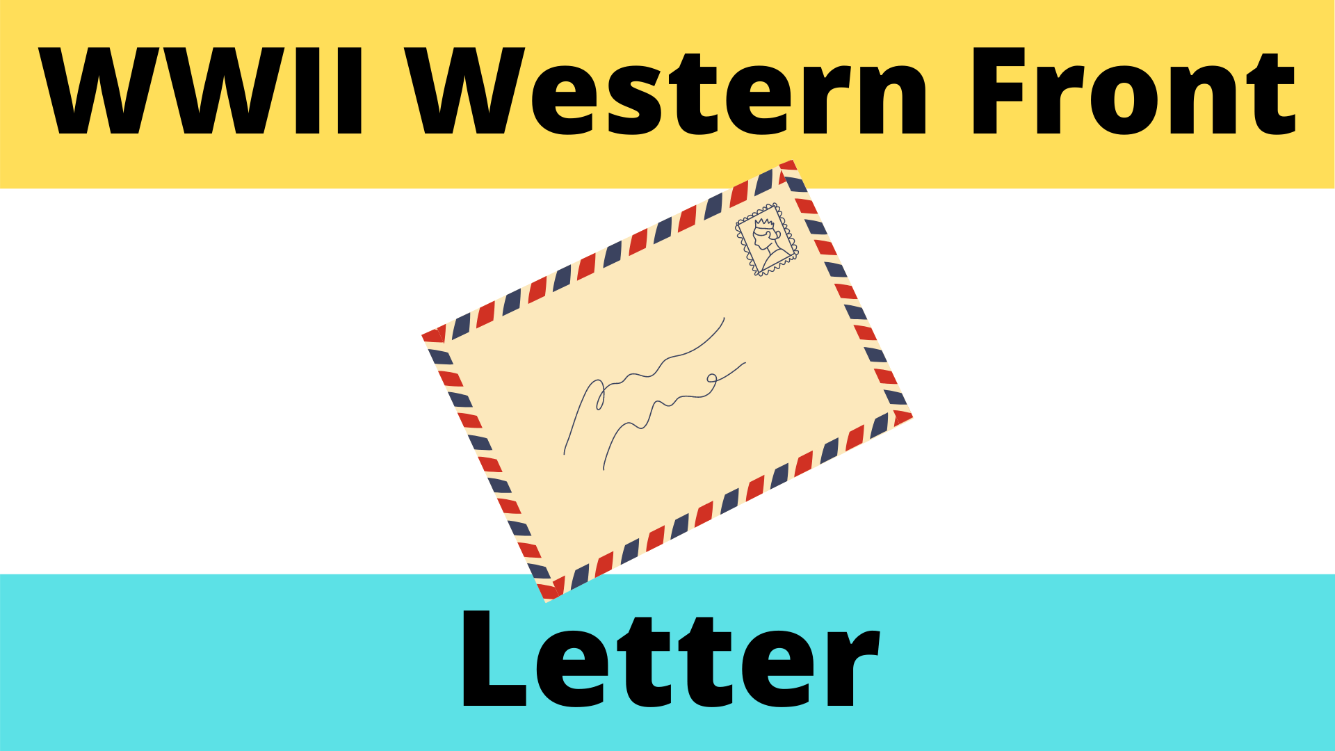 Letter From The Front Line Of The Western Front Worksheet