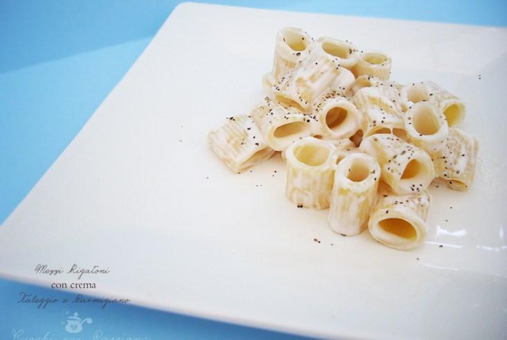 Mezzi Rigatoni con crema di Taleggio e Parmigiano