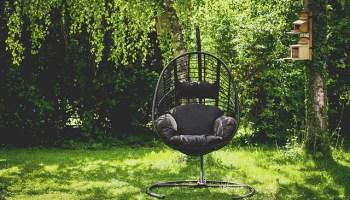 asiento colgante para jardin