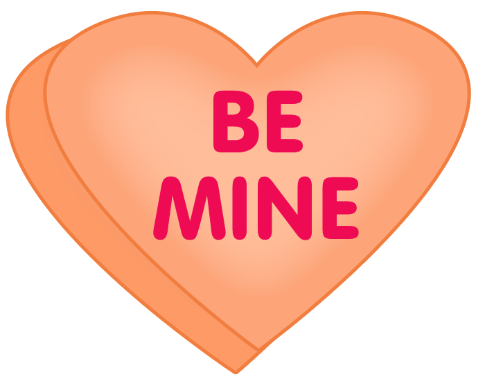 Conversation Heart Clipart And Valentines Cupcake Clipart