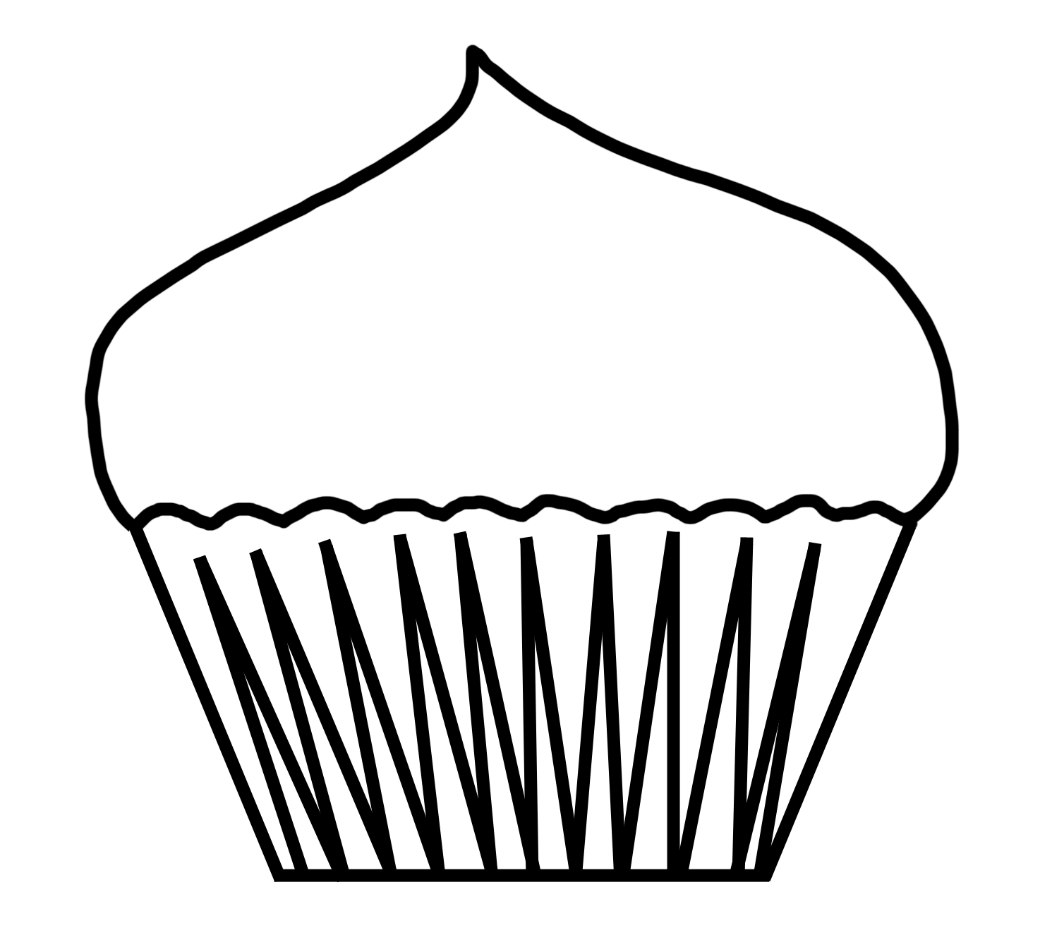 How To Draw A Cupcake Cupcake Clipart
