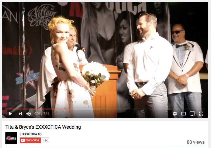 """Your Wedding is on YouTube"""