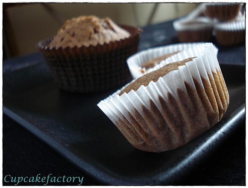 Muffinki murzynki z kremem kakaowym