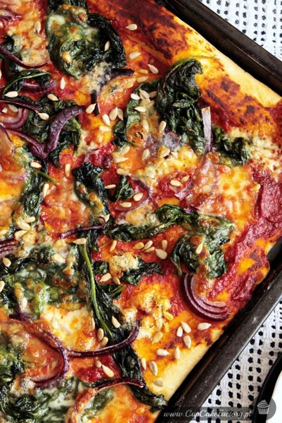 pizza ze szpinakiem