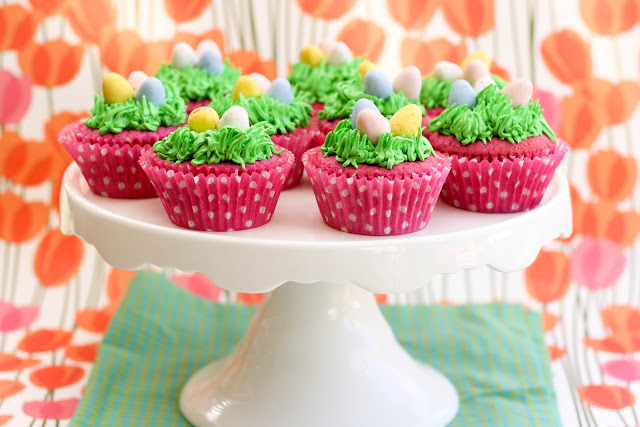 Raspberry Easter Egg Cupcakes