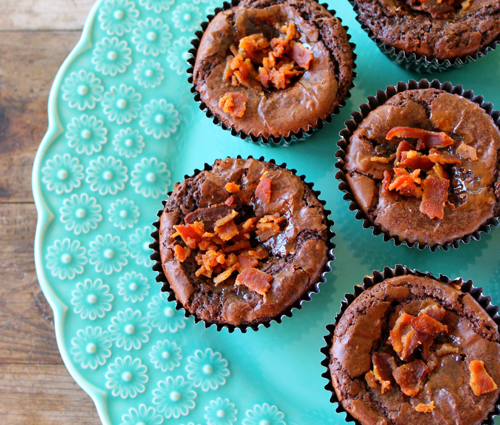 Bourbon Bacon Brownie Cupcakes