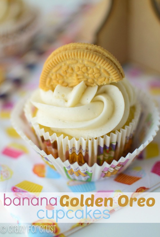 Banana Golden Oreo Cupcakes
