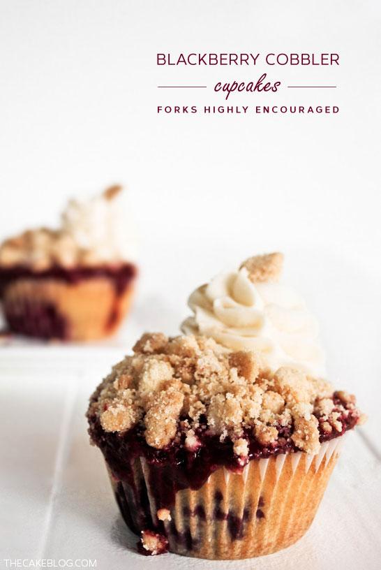 Blackberry Cobbler Cupcakes