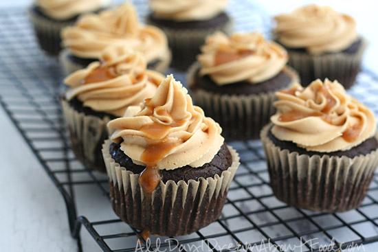 Salted Caramel Brownie Cupcakes
