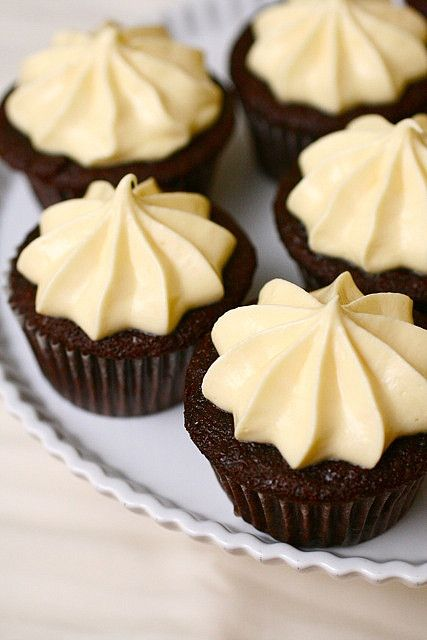 Chocolate Whiskey Cupcakes