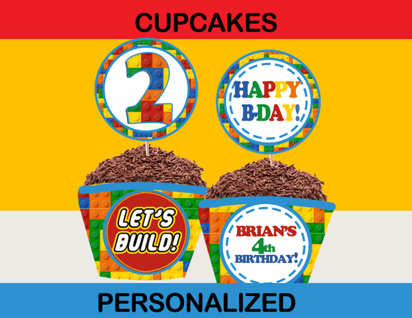 Building Blocks Birthday Party Package Instant Download