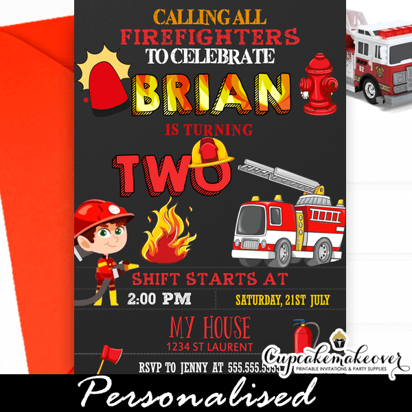 We possess abounding templates to choose from. Firefighter Birthday Invitations Fireman Themed Party Cupcakemakeover