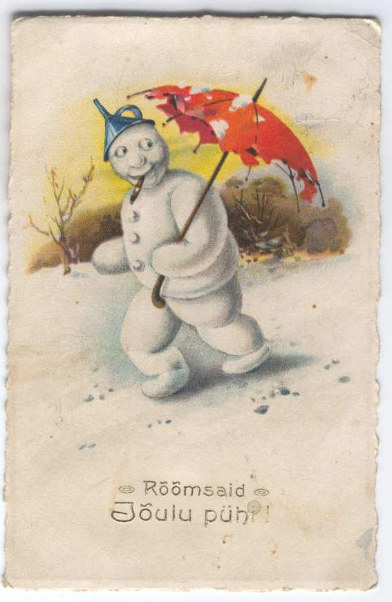 On that note I leave you with a vintage Estonian Christmas postcard,