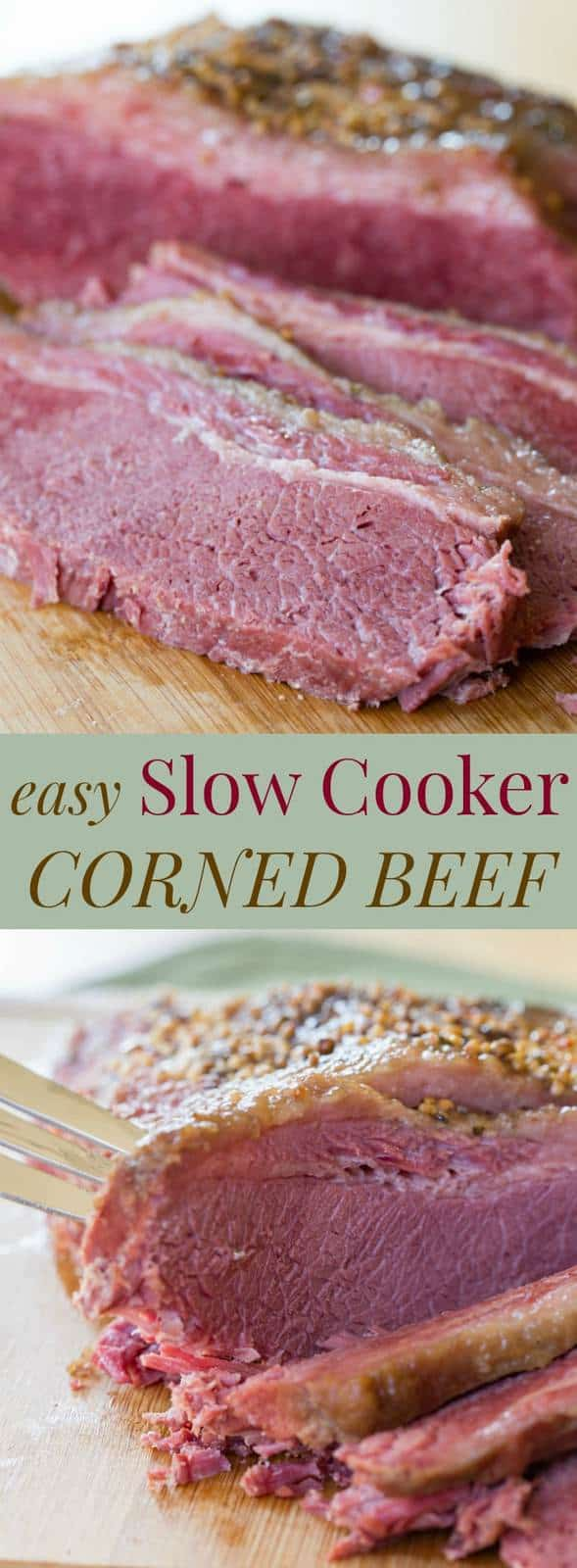 Easy Slow Cooker Corned Beef - Cupcakes & Kale Chips