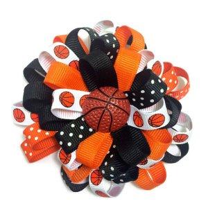 Basketball Loopy Hair Bow