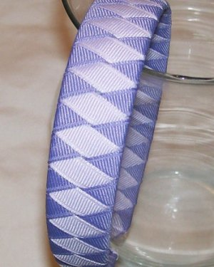 shades of purple woven headband