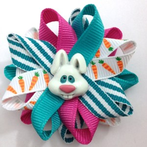 Easter Bunny rabbit Hair Bows
