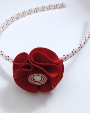 Red Fabric Flower Headband