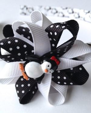 Penguin Hair Bow Headband