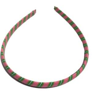 Pink, Green Stripe Headband