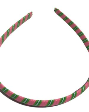 Pink, Green Stripe Headband
