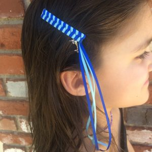 Blue dolphin streamer barrettes