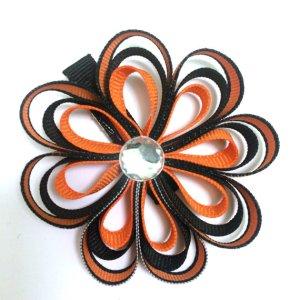 Halloween Ribbon Sculpture Hair Bow