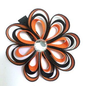 Halloween Ribbon Sculpture Hair Bow