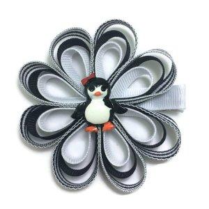 Penguin Ribbon Sculpture Hair Bow