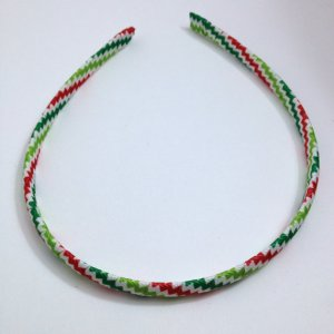 Christmas Chevron Stripe Headband