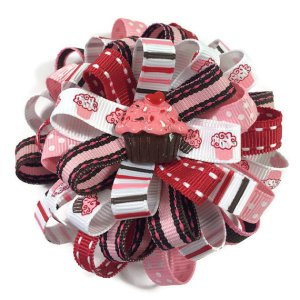 Cupcake Loopy Hair Bow