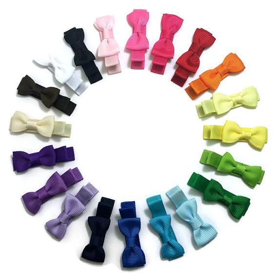 Mini Bow Tie handmade hair bows