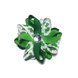 Green Turtles handmade Hair Bows