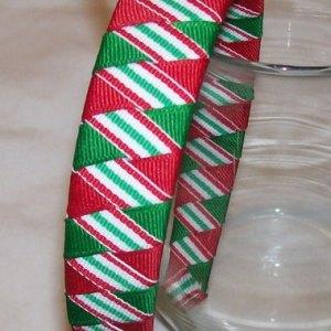 Christmas stripes woven headband