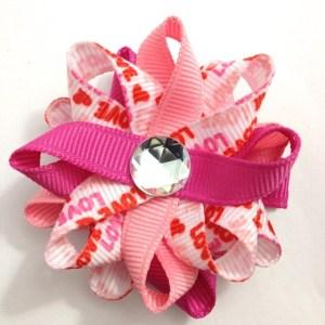 Valentines Love handmade hair bows