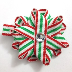 Christmas Stripe Hair Bows