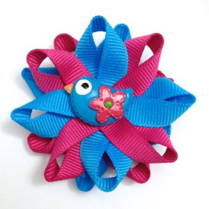 Blue Bird handmade Hair Bows
