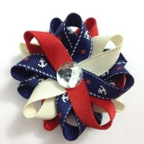Navy Anchor, Nautical Hair Bow