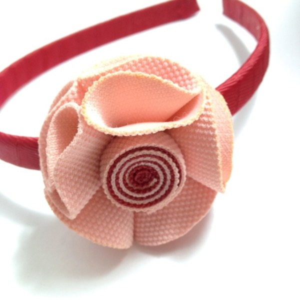 Dusty Rose Fabric Flower Headband