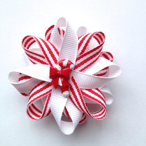Candy Cane Christmas Hair Bows