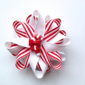 Candy Cane Christmas Hair Bows