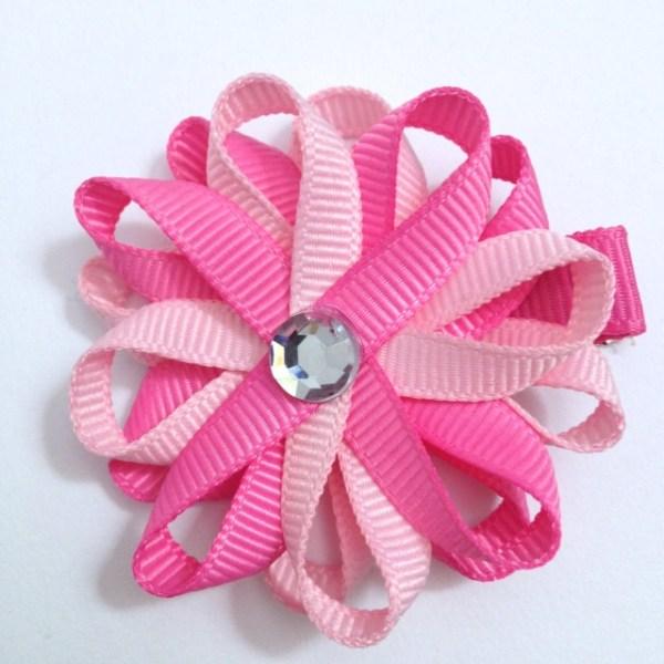 Light Pink Hot Pink Hair Bow